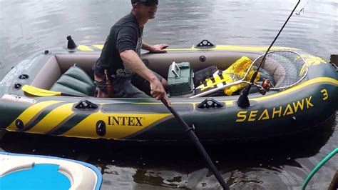 Seahawk 6 Person Inflatable Boat by Intex Seahawk 3 Person Inflatable Boat Youtube