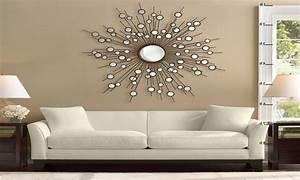 decorating ideas mirror wall decor ideas living room With large wall decor ideas for living room