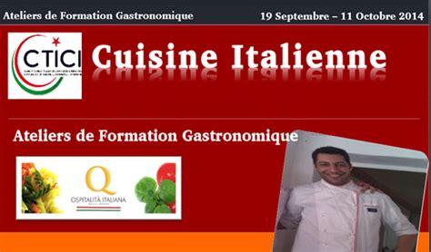 formation cuisine italienne tunisie atelier de gastronomie italienne directinfo