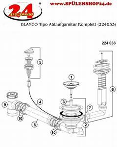 Blanco Küchenarmatur Montageanleitung : blanco tipo ablaufgarnitur komplett 224033 g nstig ~ Watch28wear.com Haus und Dekorationen