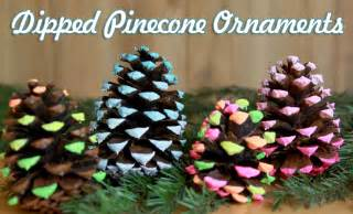 dipped pine cone ornaments christmas craft