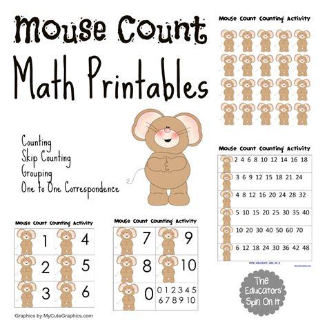 mouse count activities vbc summer camp the educators 717 | MouseCountMathPrintables 1