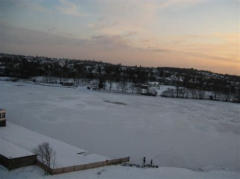 Frozen Powells Pool in Sutton Park Boldmere Gate in the S