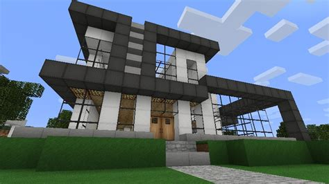 big modern house by sn1p3r8055 minecraft project