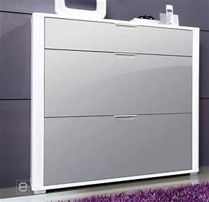 Schuhschrank Grau Weiß : neu hochglanz schuhschrank schuhkipper flurschrank schuhkommode mdf wei grau ebay ~ Indierocktalk.com Haus und Dekorationen