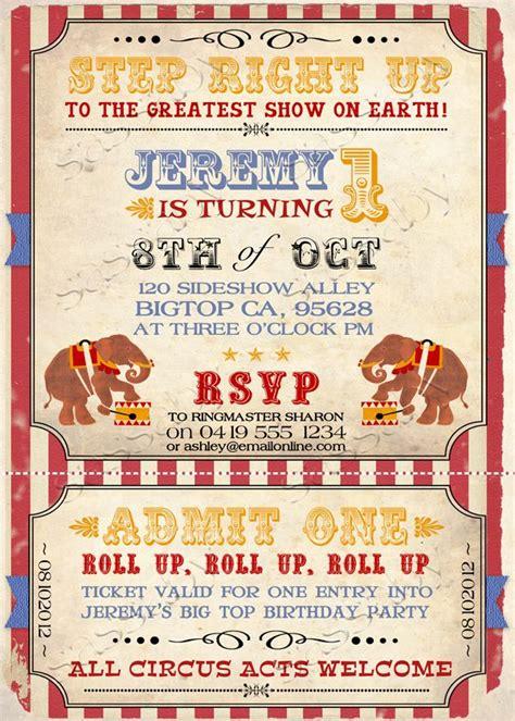 printable vintage carnival invitations