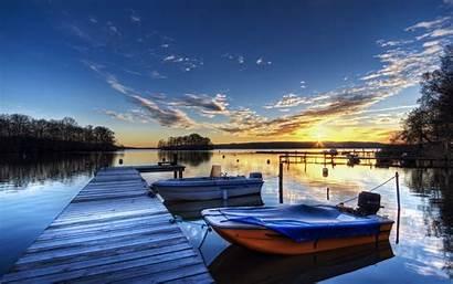 Dock Wallpapers Lake Boat Trees Ships Lovely