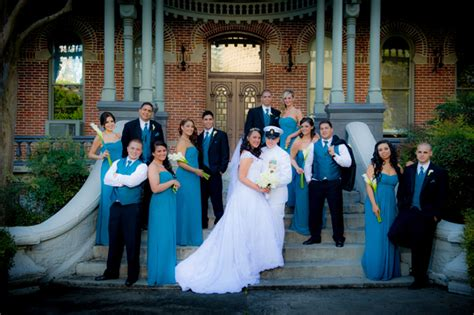 Classic Military Wedding With Teal Accentsclassic Military