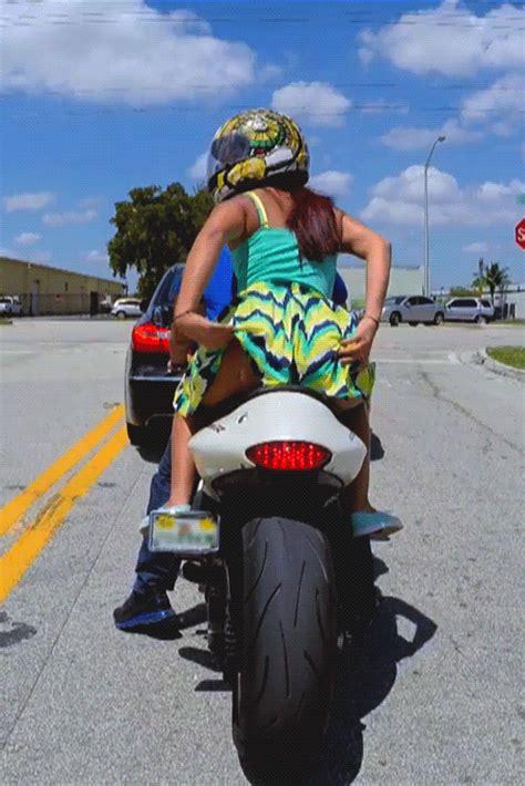 Booty Flash On A Bike Damnman