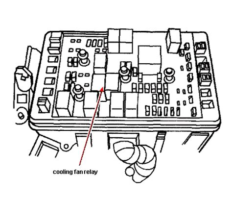 where is the cooling fan relay located on a 2003 chevy trailblazer