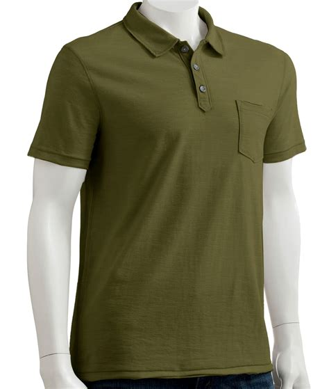 fatigue color nwt helix fatigue green 3 button stitched collar polo