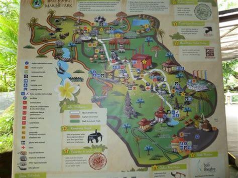 map picture  bali safari marine park gianyar