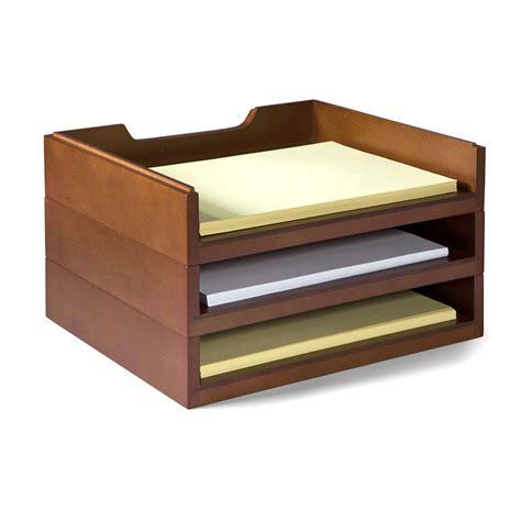 wood desk organizer stack style wood letter organizer mahogany office