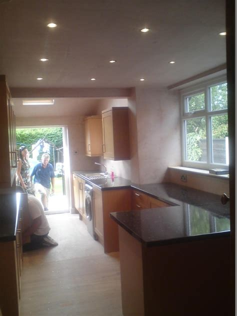 Kitchen Install With Downlights  Bsc Construction