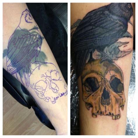 justin graves tattoo skull  raven cover