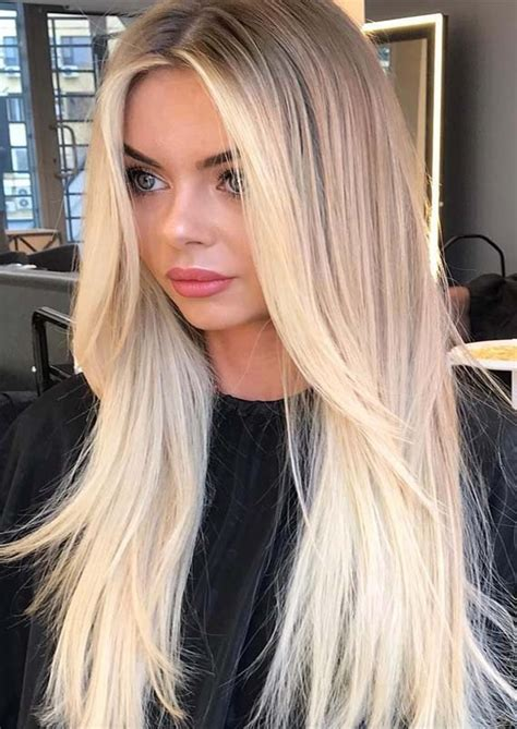 Cutest Bright Blonde Highlights for Sleek Straight Hair in ...