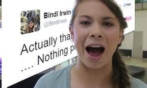 bindi irwin clears  tongue piercing rumours
