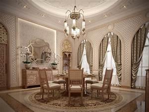 Islamic, Interior, Villa, Qatar, On, Behance