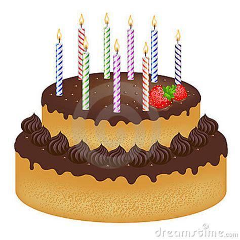 Geburtstagkuchen Mit Kerzen Lizenzfreies Stockfoto Bild
