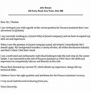finance assistant cover letter example icoverorguk With sample cover letters for finance jobs
