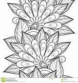 Flowers Corner Coloring Decorative Floral Template sketch template
