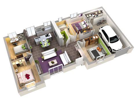 amenagement sous sol en chambre plan maison contemporaine acerola terre de soleil villas
