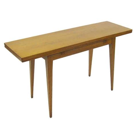 top console tables flip top console dining table by ed wormley for dunbar at 5844