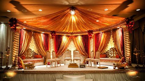 indian bridal decorations stunning orange cream mandap