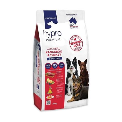 Black hawk only use the highest quality australian sourced meats, grains, fresh vegetables and fruit. Hypro Premium Working Dog Kangaroo & Turkey Adult Dog Food ...