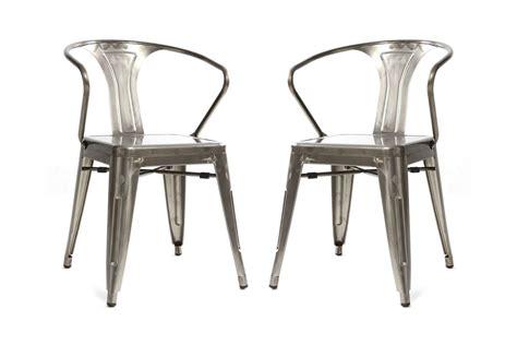 miliboo chaises chaises miliboo lot de 2 chaises design industriel métal