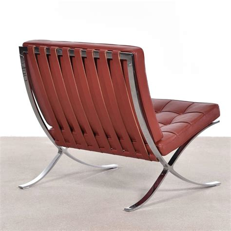 set of four barcelona chairs by ludwig mies der rohe