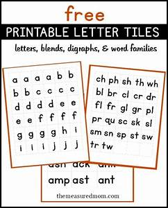 free printable letter tiles for digraphs blends and word With letter tiles for phonics and spelling