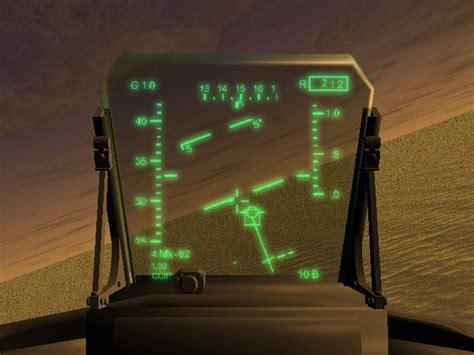 fighter aircraft hud  model