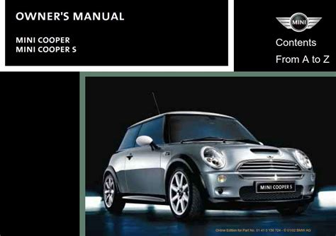 car owners manuals free downloads 2011 mini cooper countryman electronic valve timing mini cooper 2002 owner s manual pdf online download