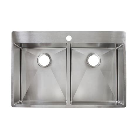 menards stainless steel utility sink franke fast in 33 5 in x 22 5 in stainless steel