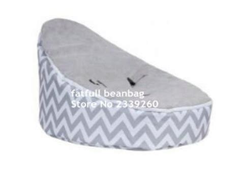 cover only no fillings light grey chevron baby bean bag