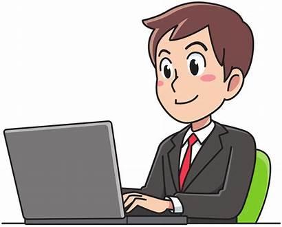 Clip Clipart Working Business Person Laptop Onlinelabels