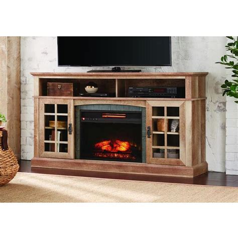 brookdale   tv stand infrared electric fireplace