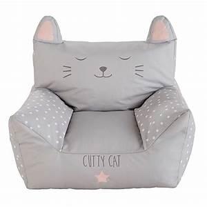 Fauteuil Pour Bébé : fauteuil enfant en coton imprim gris cats maisons du monde ~ Teatrodelosmanantiales.com Idées de Décoration