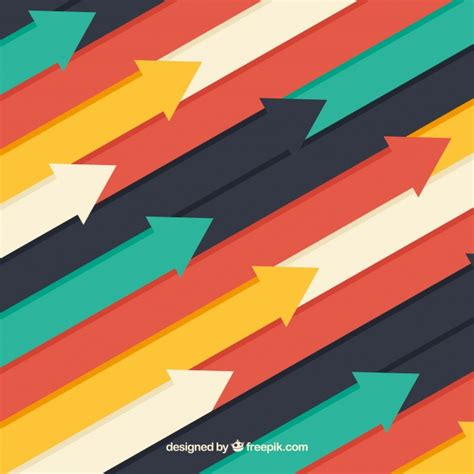 Arrow Background Flat Design Colorful Arrows Background Vector Free