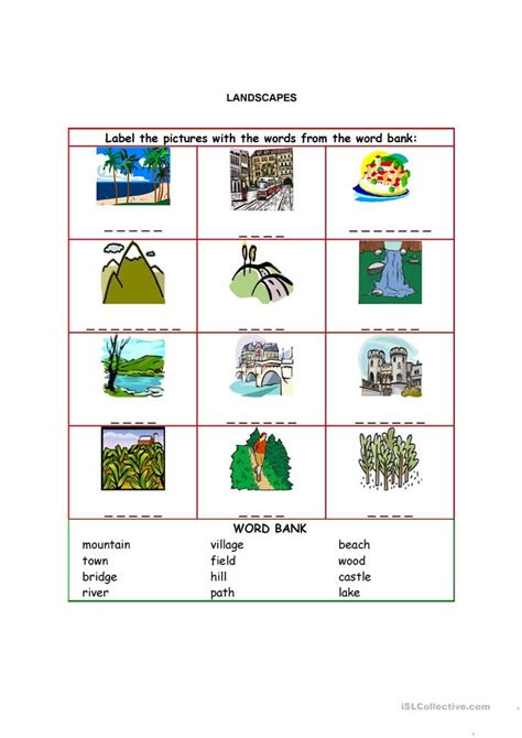 landscape sheets landscapes worksheet free esl printable worksheets made by teachers