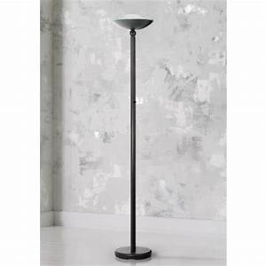 Halogen 150 watt contemporary black torchiere floor lamp for 3 way 150 watt floor lamp