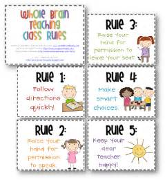Whole Brain Teaching Rules & Signs Freebies - 3rd Grade