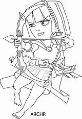 Clash Clans Coloring Pages Archer sketch template
