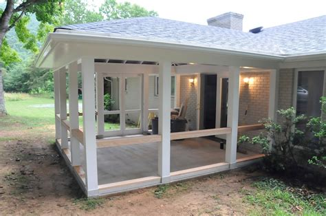 how to screen in a porch how to build a screened porch teamns info