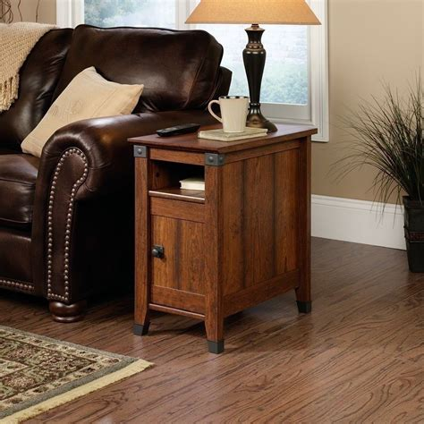 living room side table decor wood end table side rustic living room office l sofa