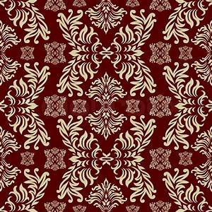 Maroon seamless repeat design with a floral themed