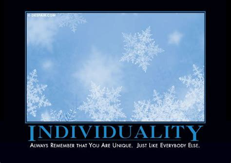 individuality favorite demotivational posters funny