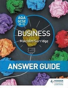 Aqa Gcse Business  Answer Guide   Malcolm Surridge  Author