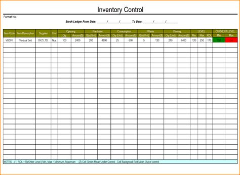 Excel Template Excel Inventory Template With Formulas 1 Inventory